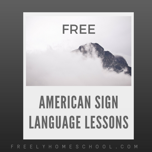 Free online american sign language courses freely homeschool free online american sign language courses urtaz Image collections